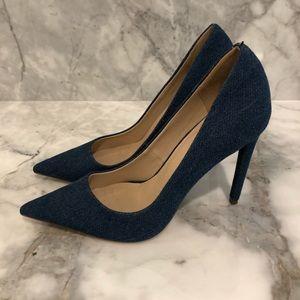 f27c3b5b55 ASOS Shoes   Blue Denim Pointed Toe Heels   Poshmark
